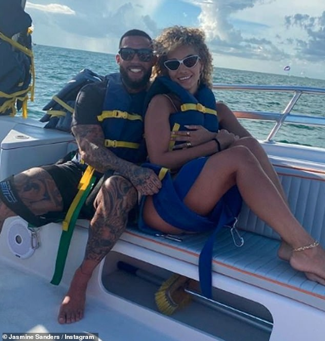Loved-up: Meanwhile, in her personal life, Jasmine started dating her boyfriend Anthony Rhoades earlier this year and largely spent her summer in Miami with her beau