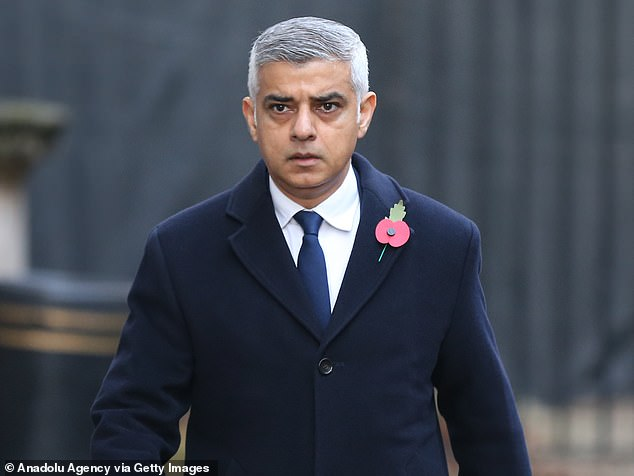 His comments come after the Mayor of London Sadiq Khan (pictured) repeatedly refused to deny he believes the Met Police is institutionally racist