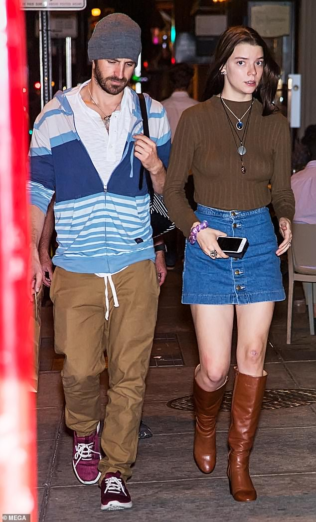 Actress Anya Taylor-Joy and her fiance actor Eoin Macken are seen out and about in Philadelphia 20 Oct 2017