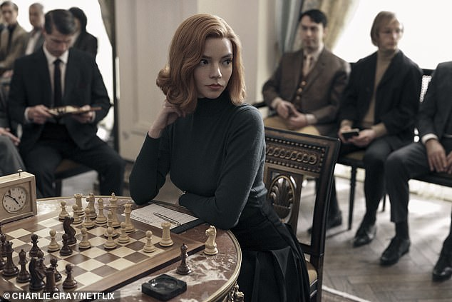 Anya Taylor as Beth Harmon in the Queen's Gambit