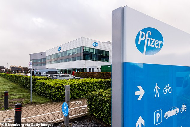 A recent job advert on Pfizer¿s Puurs plant website was seeking ¿a vaccine maker.¿ With more than a billion doses planned by the end of next year, it may not be the last. Pictured:Pfizer facility in Puurs, Belgium