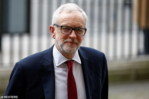 Backers of Labour's ex-leader Jeremy Corbyn (pictured) have set up a company - JBC Defence Ltd - to fund his defence in legal battles connected with the antisemitism furore