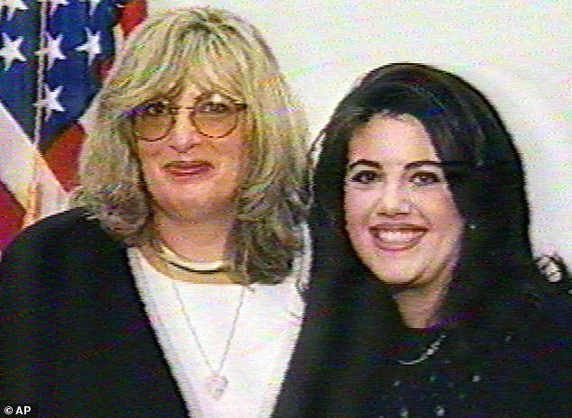 Real scandal: The 45-year-oldstars as the whistleblower and friend of Lewinsky, whose recordings of their private calls about the former White House intern's affair with then-President Bill Clinton played an important role in the scandal (pictured in January, 1998)