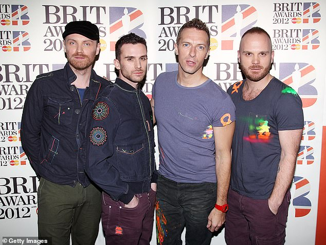 Pictured: Coldplay. Kylie Minogue has hosted the quiz night and Coldplay entertained regulars at the Ring O'Bells in Somerset