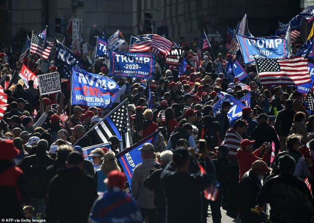 Organizers had predicted 10,000 would attend the rally, and as noon approached it looked like that many or more