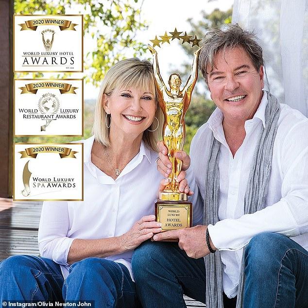 Olivia Newton-John's Gaia retreat in Byron Bay picks up FOUR gongs at the World Luxury Hotel Awards