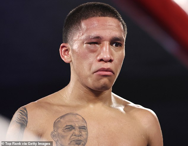 Referee ruled Moloney's opponent Joshua Franco (pictured) injured his eye in an accidental headbutt