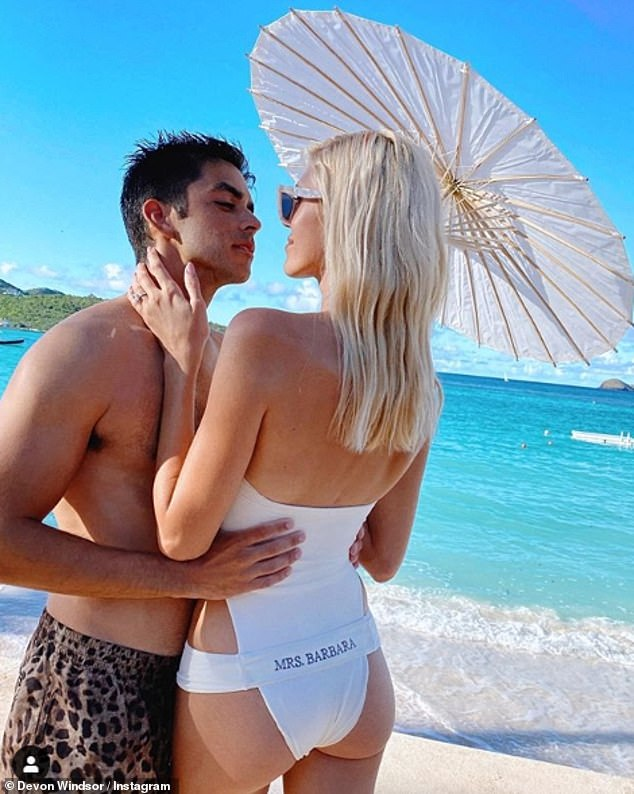 Tie the knot:The Chanel model had her fairytale wedding in St Barts in 2019, with celebrity guests, and close family and friends all in attendance