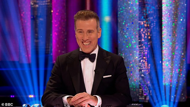 Stand-in: In images shared to Instagram, the panellist, 39, glammed it up while in quarantine as professional dancer Anton du Beke (pictured), 54, made his debut on the judging panel