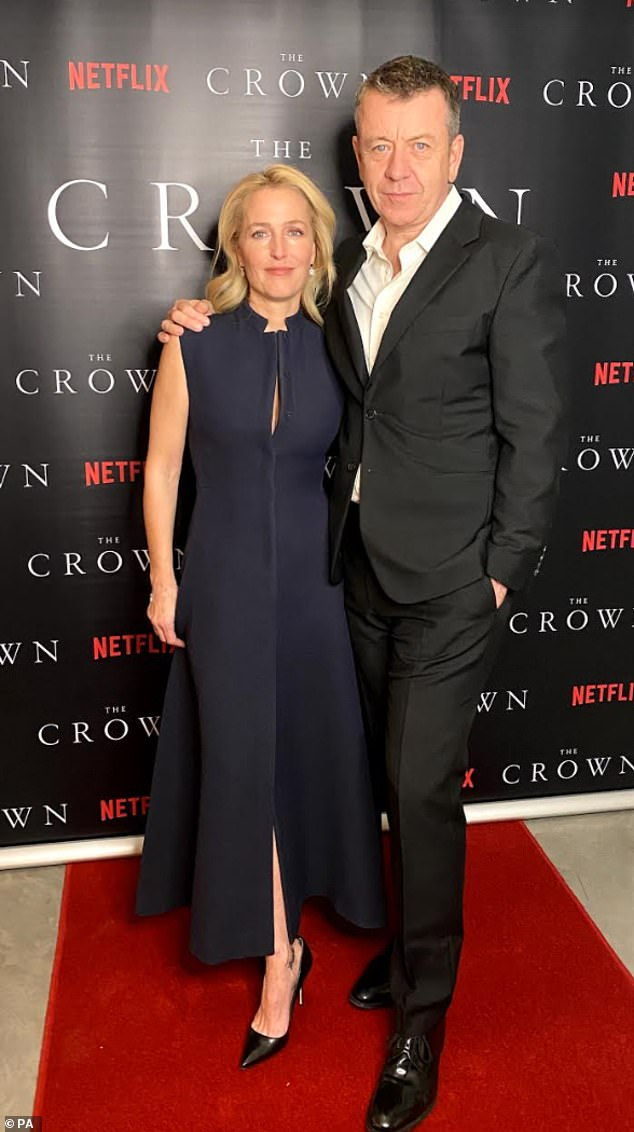 'It was for our sanity': Earlier this month, the blonde insisted she had ' clear boundaries' with her partner and show creator Peter Morgan, 57 (pictured on Thursday)