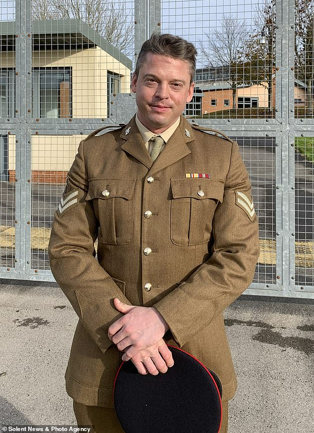 Corporal Philip Dragon harassed his ex-girlfriend Chloe Haynes for a month. Pictured outside Bulford military court