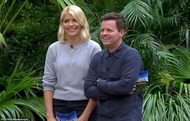 New face:Following Ant's drink-drive arrest earlier in the year, the presenter opted for sit out 2018's series, with Dec joined by longtime friend Holly Willoughby as they headed Down Under
