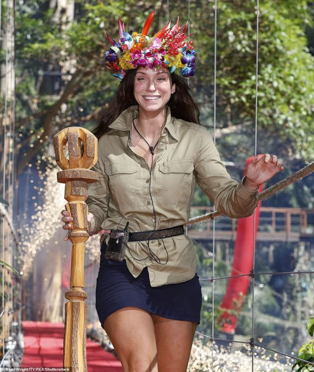 Riding high:But despite three weeks of rows, trials and tensions, Vicky Pattison managed to rise above and stormed to victory