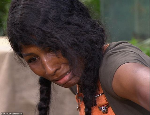 Worried:Sinitta proved to be the one of series eleven's most fearful stars, screaming with terror at the sight of any moving creature, which of course led to millions of viewers voting for her to take on a Bushtucker Trial