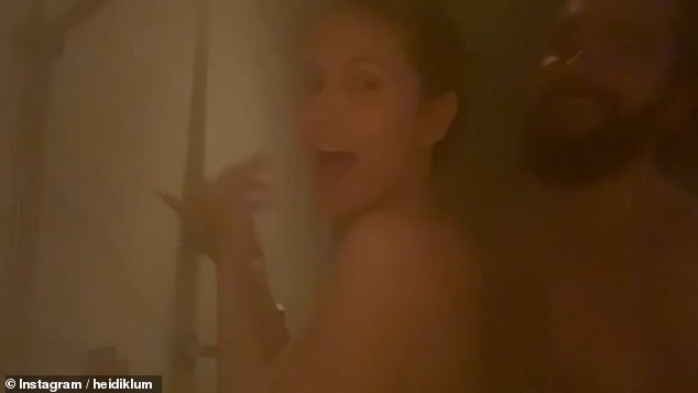 Heidi Klum, 47, gets NAKED with her husband Tom Kaulitz, 31, for a STEAMY shower video
