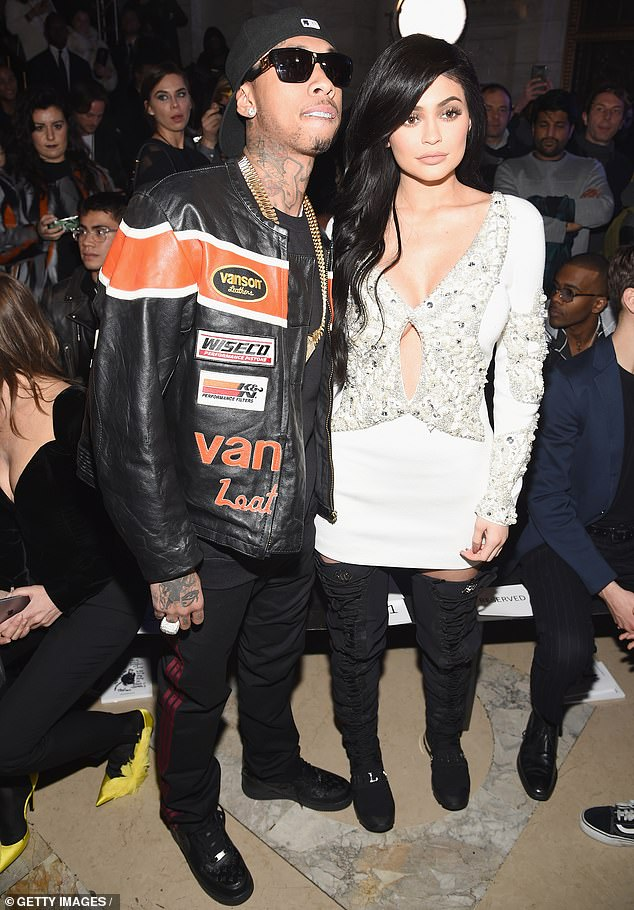 Famous romance: Tyga previously dated make-up mogul, Kylie Jenner, 23, but the pair separated for good in 2017