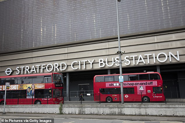 Passenger Frederick Adomako-Frimpong, 49, was caught without a face covering at Stratford bus station on July 15