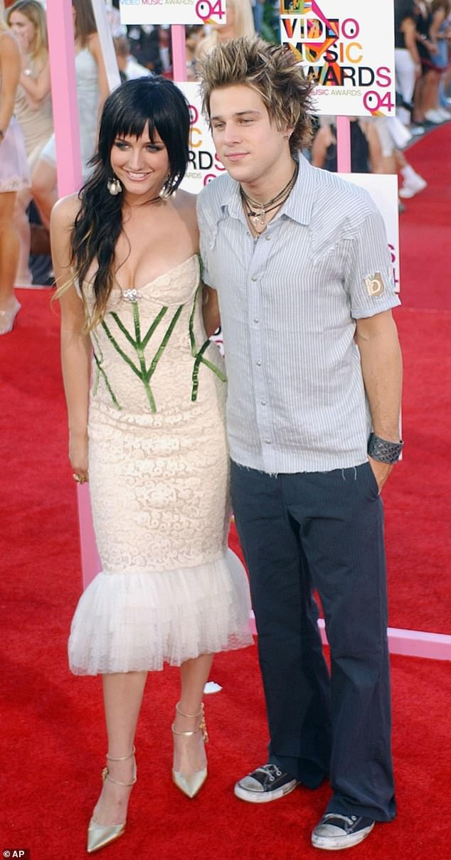 In the past: Ryan was previously engaged to The Hills star Audrina Patridge and dated Ashlee Simpson 15 years ago; seen in 2004