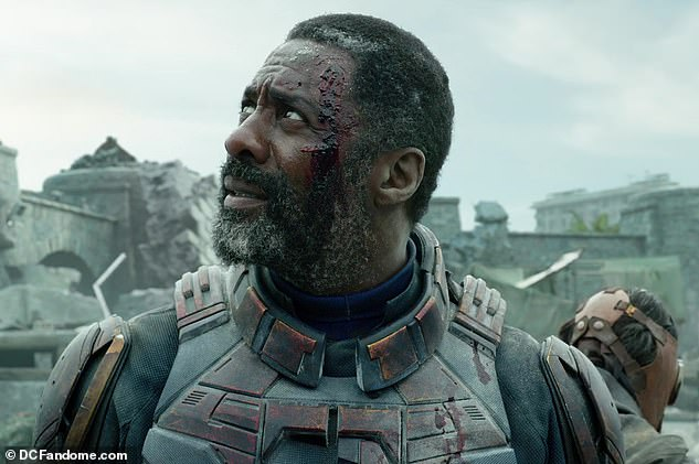 On point:Arguably the biggest change for the sequel is Idris Elba taking over the role of Floyd Lawton/Bloodshot for Will Smith, who had to bow out of the project due to sceduling conflicts