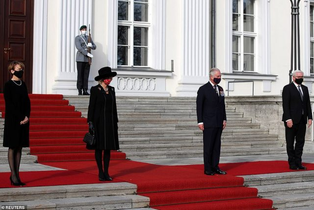 It's the first time a member of the Royal Family has attended the sombre occasion and is the Prince of Wales and Duchess of Cornwall's first joint official overseas visit since the pandemic began