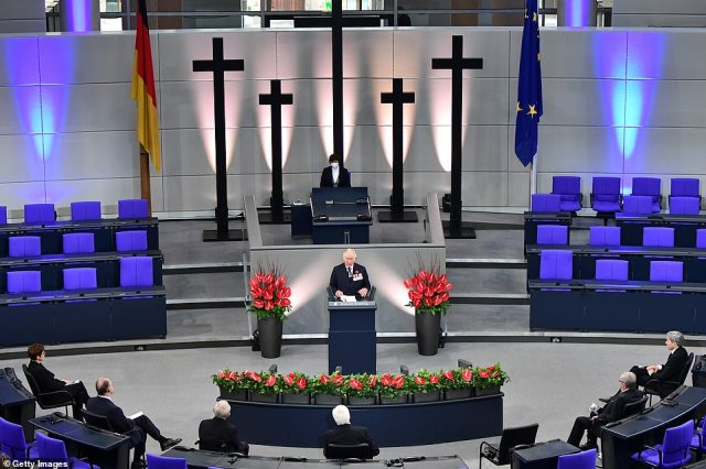 The prince, who delivered his speech to a socially distanced congregationat the German parliament Bundestag, praised the bonds between the UK and Germany