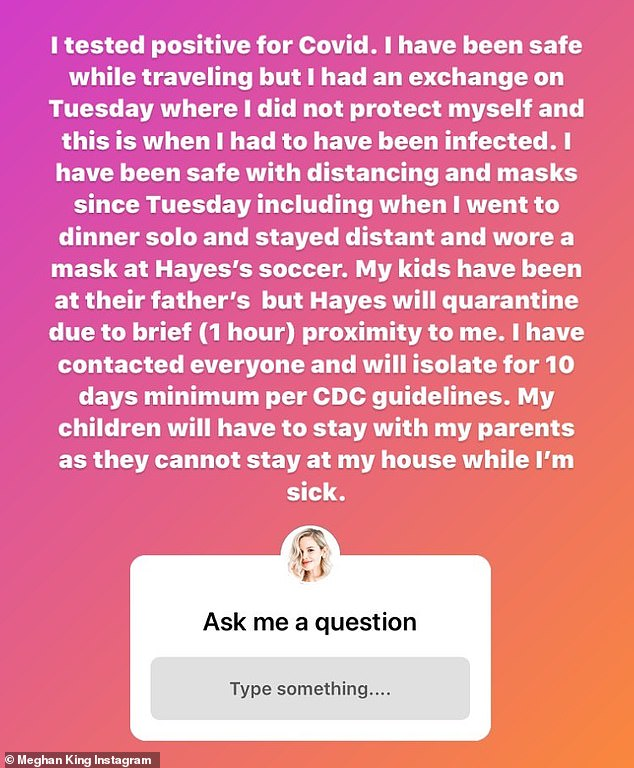 The Theory: The Real Housewives of Ocean County explained her theory on how she could have contracted the coronavirus last week on her Instagram Story