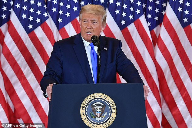 During his address to the nation early Wednesday morning, Trump also claimed that the Democrats were engaged in a fraudulent effort to steal the Presidency while he was out in front