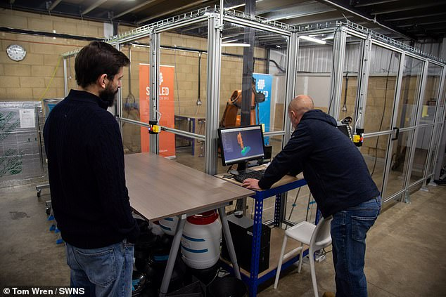 It was built using a chassis made from a super-strength recycled plastic and built on a 3D printer at the Swindon-based plant
