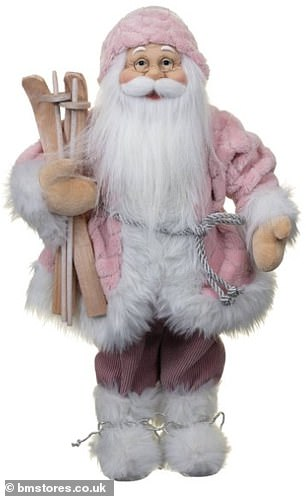 B&M recently revealed its 'Deco Shimmer Santa' (pictured) for £15