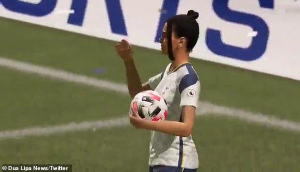 Black hair: Dua, who played football, kept his black hair up to highlight