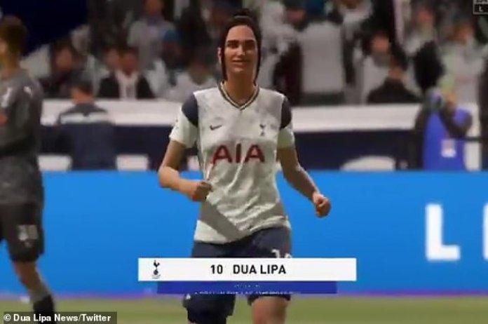 Estrella del fútbol: Dua Lipa se ha convertido en un personaje jugable en el videojuego de fútbol FIFA 21