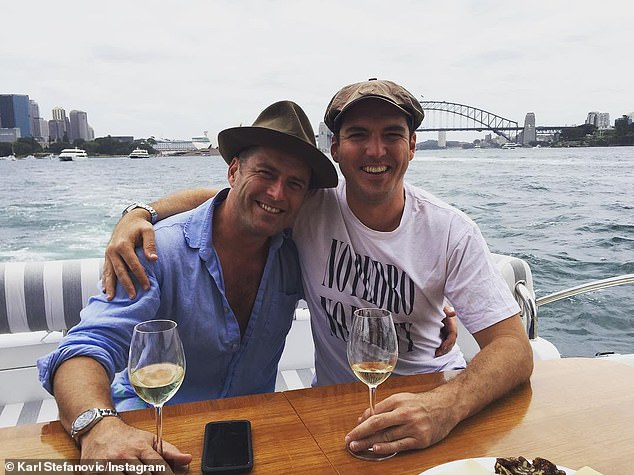Jealousy? The article in question quoted a 'close family friend' as saying that Karl (left) was 'jealous' of Peter's (right) career at Sky News Australia