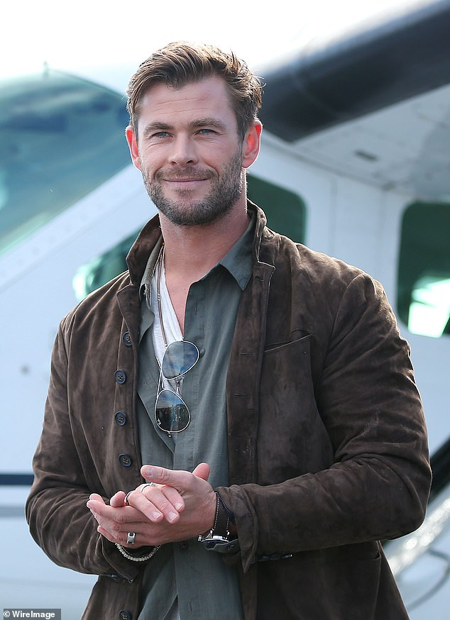 In shape: While Natalie focuses on her vegan diet to stay in shape forThor: Love and Thunder, her hunky co-star Chris Hemsworth is said to be relying on a protein-heavy diet such as chicken and fish to retain his bulky physique