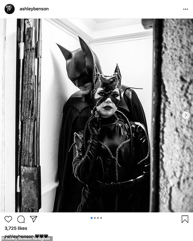 Together: G-Eazy and Benson went Instagram official on Halloween when they posted photos showing them dressed up in Batman and Catwoman