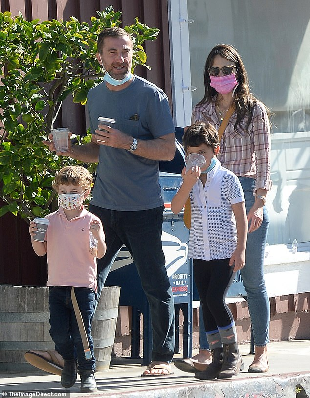 Jordana Brewster's new romance is going strong as she enjoys outing with Mason Morfit and her sons