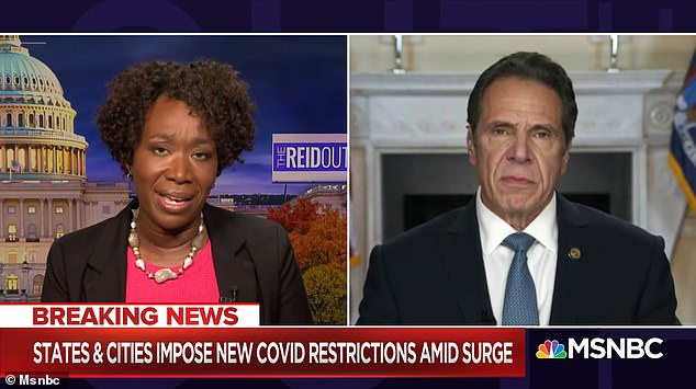 'The threat is just that. It's a silly hollow threat. What bothers him is that I'm not going to allow New Yorkers to be bullied by him,' Cuomo said to host Joy Reid