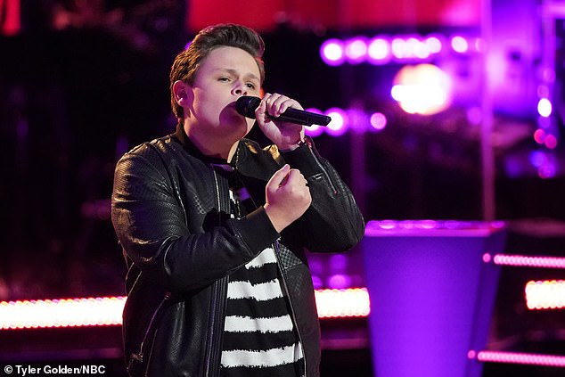 Teen talent: Gwen Stefani  paired up two talented teens, Carter Rubin, 14, from Shoreham, NY, and Larriah Jackson, 15, from Sacramento, California, on Meghan Trainor's Like I'm Gonna Lose You