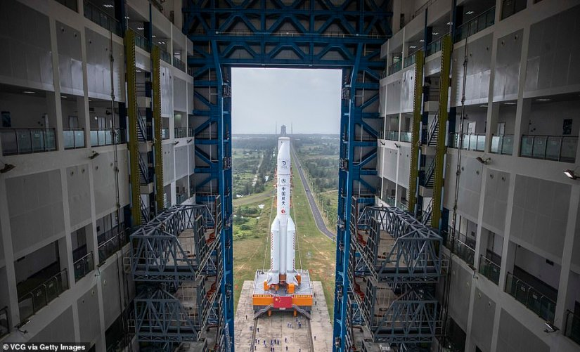 The heavy-lift carrier rocket is scheduled to blast Beijing's latest lunar mission, the Chang'e 5, into orbit early next week