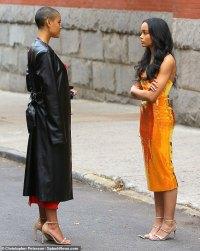 Jordan Alexander andWhitney Peak spotted filming Gossip Girl in New York City