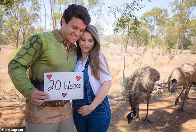 Not long now! Bindi will soon be welcoming her own little addition soon, being around 20 weeks pregnant with her first child with husband Chandler Powell, 24. She recently shared a picture of herself in overalls and cuddling Chandler as they revealed they're 'halfway there'