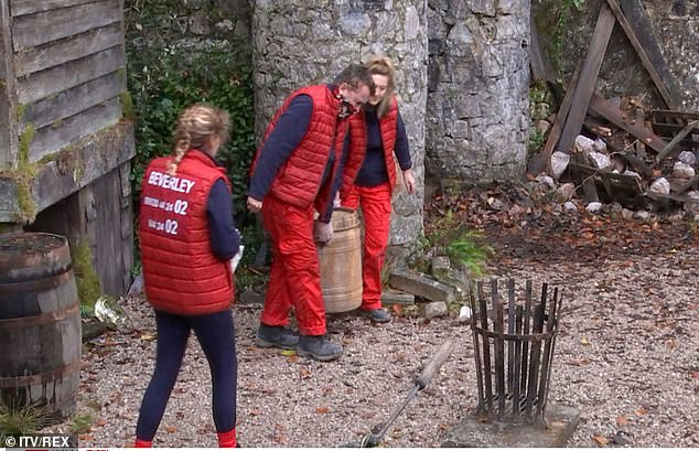 What a task!Shane was also reluctant to help Victoria Derbyshire with emptying the privy, after it had been filled by contestants over the past couple of days