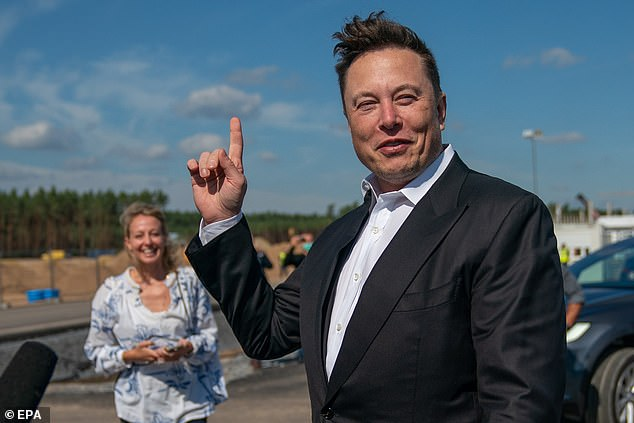 The only way is up: Tesla founder Elon Muskhas leapfrogged Facebook founder Mark Zuckerberg to become the third richest man in the world