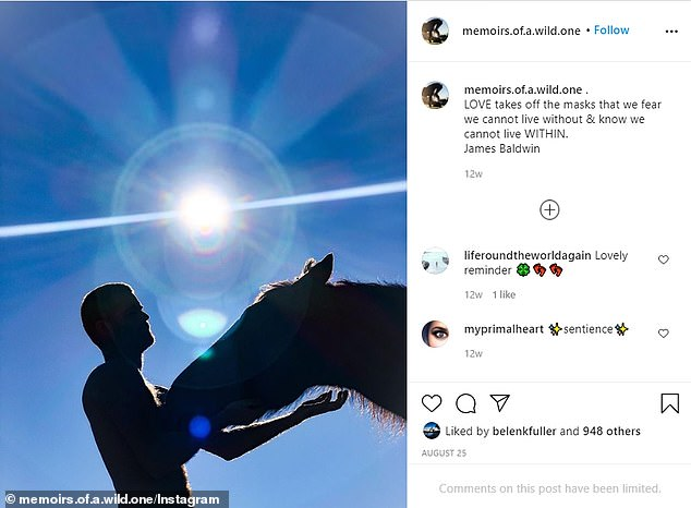 Final sighting: The last time she shared a photo of her embattled husband to social media was back on August 25, and he has been noticeably absent from her profile ever since