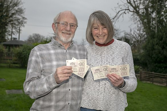 Caro Rash, pictured with husband Allan,intervened after her 94-year-old deaf mother-in-law was told her prizes would stop coming in the post