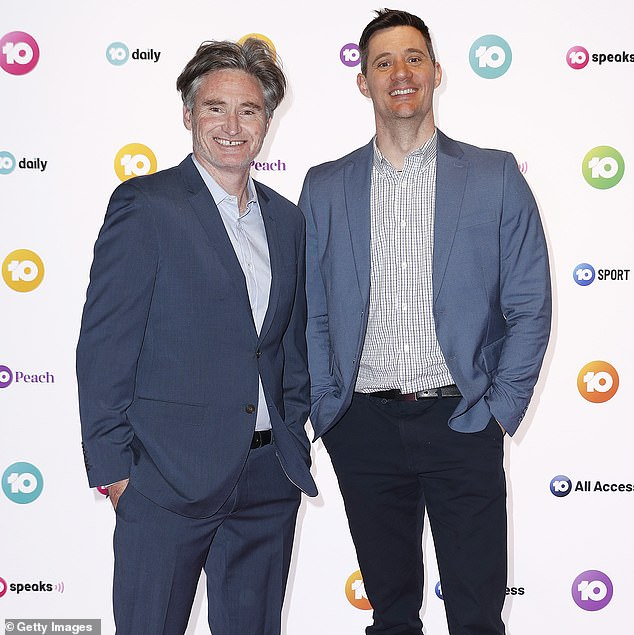 Primetime slot the key: SCA CEO Grant Blackley claims Sydney's 2DayFM remains as the primary focus for the radio and television company. Pictured: Dave Hughes and Ed Kavalee who currently co-host 2Day FM's morning show with sports presenter Erin Molan