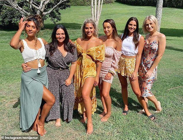 'I'm grateful that I was able to meet them half way': Noni thanked her pals for making the weekend 'so special' despite coronavirus border measures preventing her from going to QLD