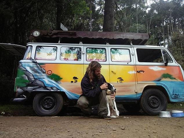 Mr Pereira with his dog Brisa
