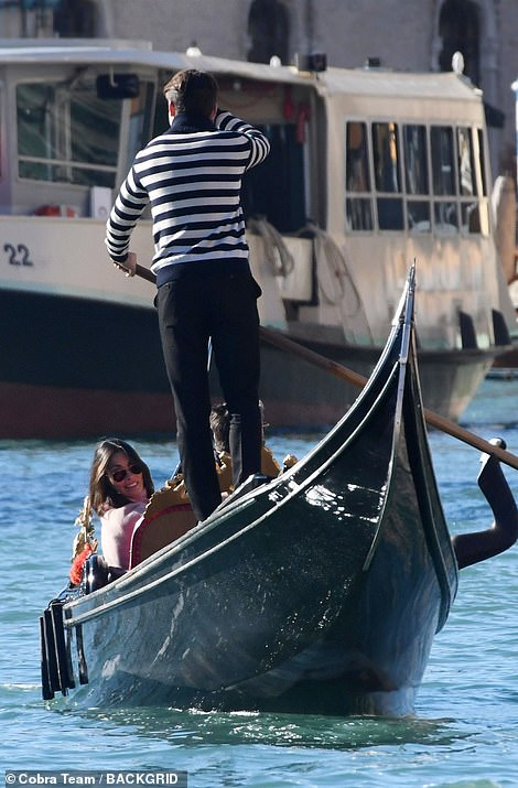 Instagram-worthy!  Mel took some shots of Riccardo while lying on the gondola
