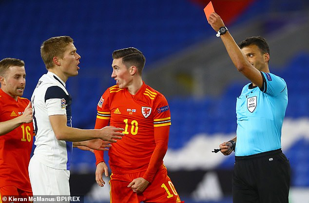 Finland were down to 10 men after just 12 minutes after full backJere Uronen was sent off