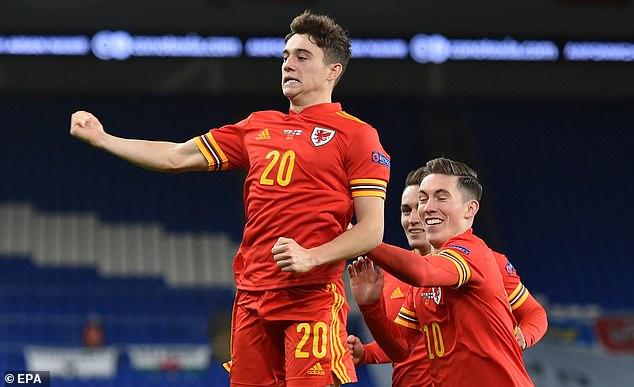 James notched Wales's second just a minute after the restart on Wednesday evening